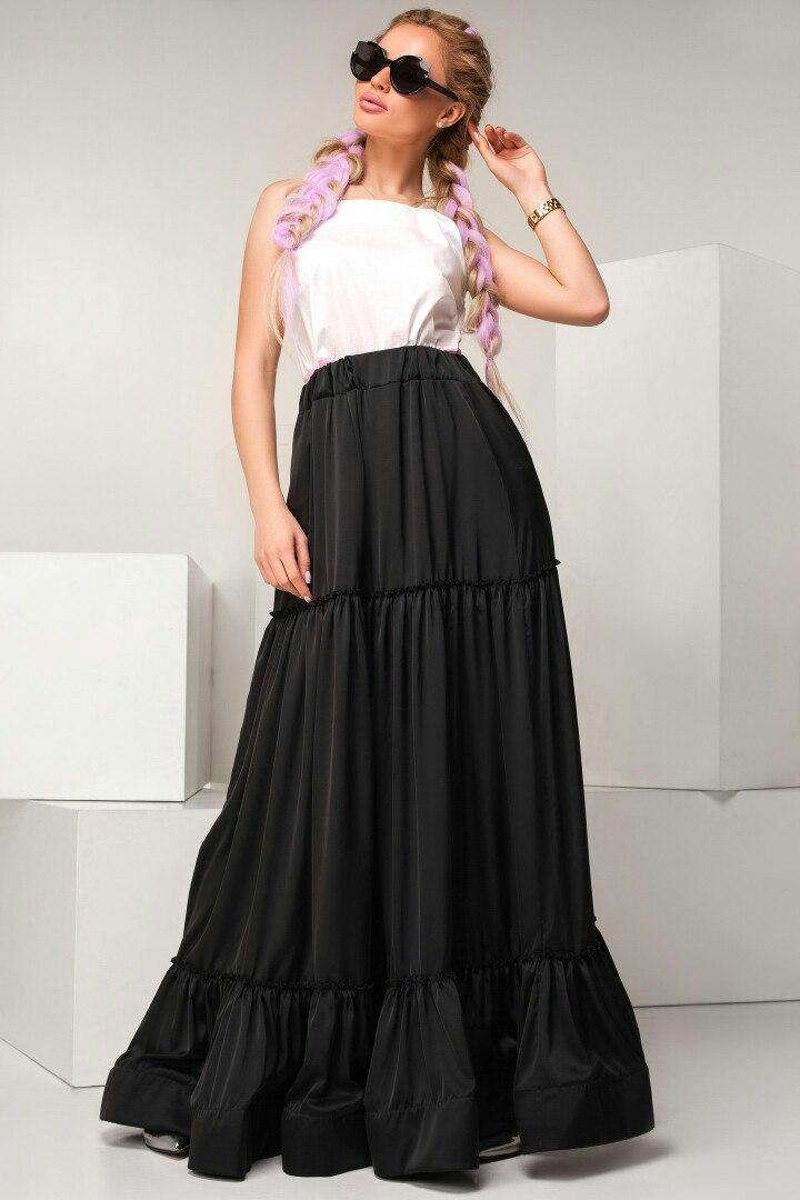 Шелковая юбка  макси