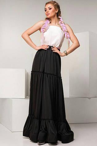 Шелковая юбка  макси , фото 2