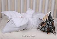 Зимний белый конверт-чехол для новорожденных, Снежок