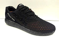 Кроссовки мужские Adidas ZX Flux 8000 летние сетка черные AD0061