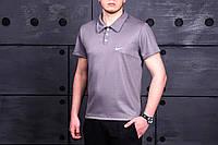 Поло, футболка мужская Найк, супер качество, серый