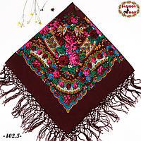 Украинский бордовый платок Королева, фото 1