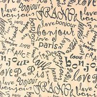Трикотажное полотно стрейч кулир хлопок/эластан пенье 30/1, буквы bonjour Paris, France, капучино