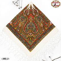 Украинский белый платок Колокол, фото 3