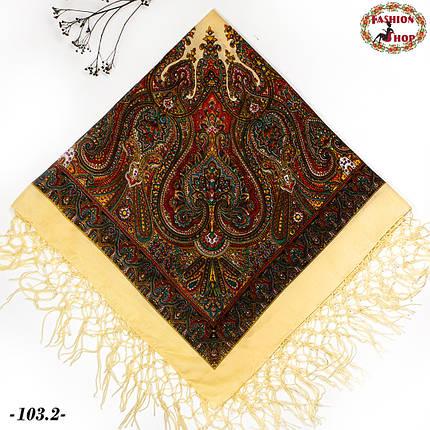 Украинский кремовый платок Колокол, фото 2