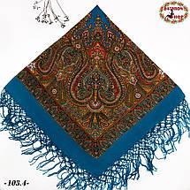 Украинский голубой платок Колокол, фото 3