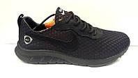 Кроссовки мужские Nike летние верх сетка черные Ni0150