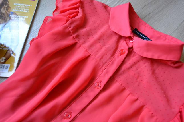 Коралловая шифоновая блуза Atmosphere, фото 2