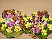 """Букет из конфет-крокусы в переплете №15""""Желтый шарм"""""""