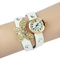 Часы-браслет с бабочкою : Белые, фото 1