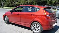 """Дефлекторы окон Hyundai I-20 2008-> хеч 3D """"Cobra"""" темные (2шт/комп)"""
