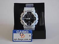 Мужские наручные спортивные часы CASIO G-SHOCK GA-100 WHITE