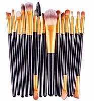 Набор для визажиста на 15 кистей, кисточки для макияжа