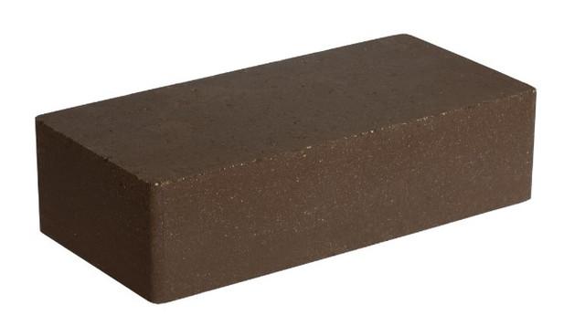 Гиперпрессованный кирпич LAND BRICK коричневый гладкий