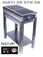 Энергосберегающая плита индукционная Skvara Sif 2.7 (2х3,5 кВт) промышленная двухконфорочная