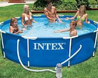 Круглый каркасный бассейн Metal Frame Pool Intex 28202 (305-76 см.)+ Фильтрующий насос