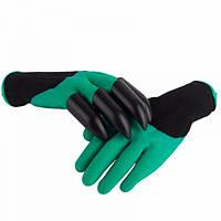 Садовые перчатки с когтями Garden Gloves / перчатки с пластиковыми наконечниками Картонная упаковка