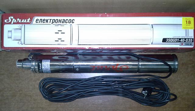 Скважинный бытовой насос Sprut 3S QGD 1–40–0,55