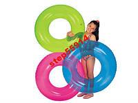 Прозрачный круг для купания ребенка фирмы  Intex 59260. В наличии 3 цвета 76см