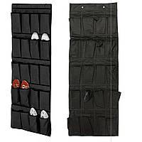 Подвесной органайзер с карманами для обуви Heney Can Do 16 Pocket Over The Door Shoe Organaizer Print