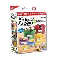 Набор порционных контейнеров для продуктов с дозировкой калорий