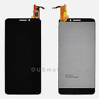 Дисплей (экран) + сенсор (тач скрин) Alcatel One Touch Idol 6040, 6040A, 6040X black (оригинал)