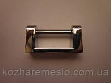 Держатель для ручки сумочный верхний никель(БЕЗ ВИНТОВ)