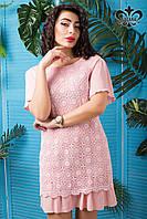Стильное женское розовое платье Франческа Luzana 42-50 размеры