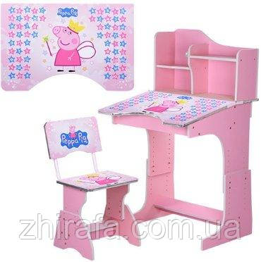 """Детская парта Растишка BAMBI """"Свинка Пеппа"""",розовая"""