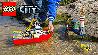 Конструктор Лего 60109 LEGO City Fire Пожарный катер