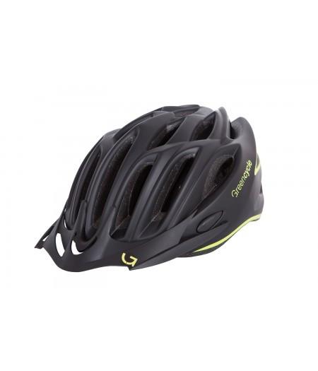 Шлем Green Cycle New Rock (черно-желтый матовый)