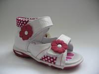 Ортопедические босоножки для девочек Renbut 21р. цветочки