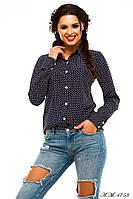 Женская рубашка с длинным рукавом №56-103/2