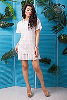 Стильное женское белое платье Франческа Luzana 42-50 размеры