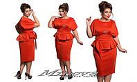 Элегантный женский костюм итальянский трикотаж Размеры:48, 50, 52, 54
