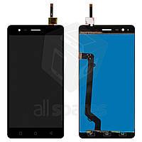 Дисплей (экран) + сенсор (тач скрин) Lenovo A7020 K5 Note black (оригинал)