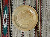 Тарілка ручної роботи різьбленна дерев'яна, фото 1