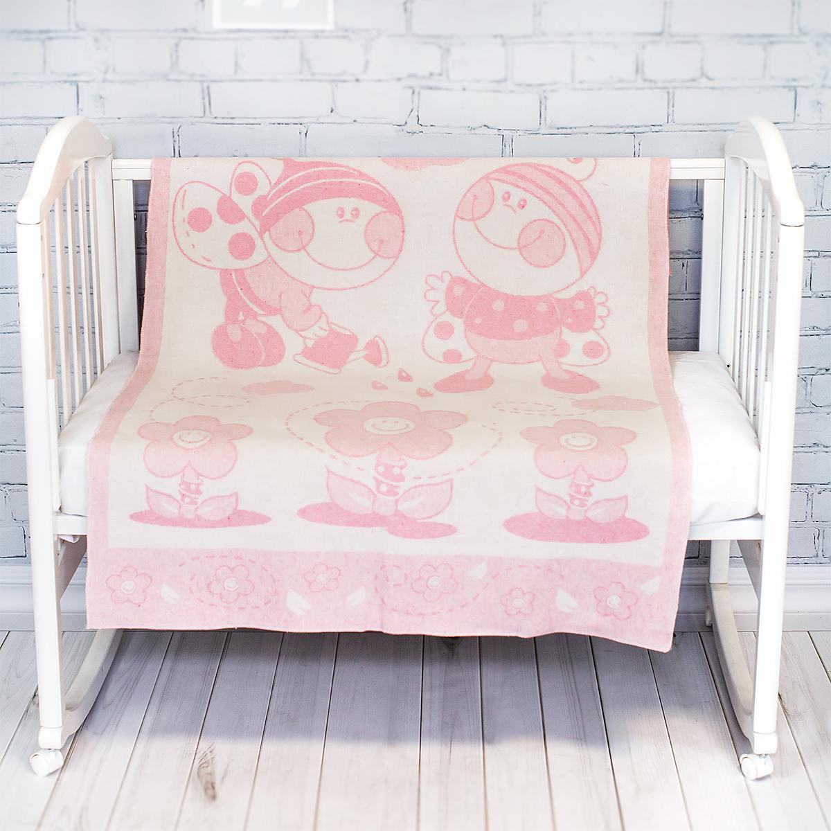 "Детское одеяло-плед Ковдра дит. ""Букашка"" 100*140 рожевий"