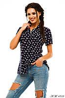 Женская летняя  рубашка с якорем №56-103/1