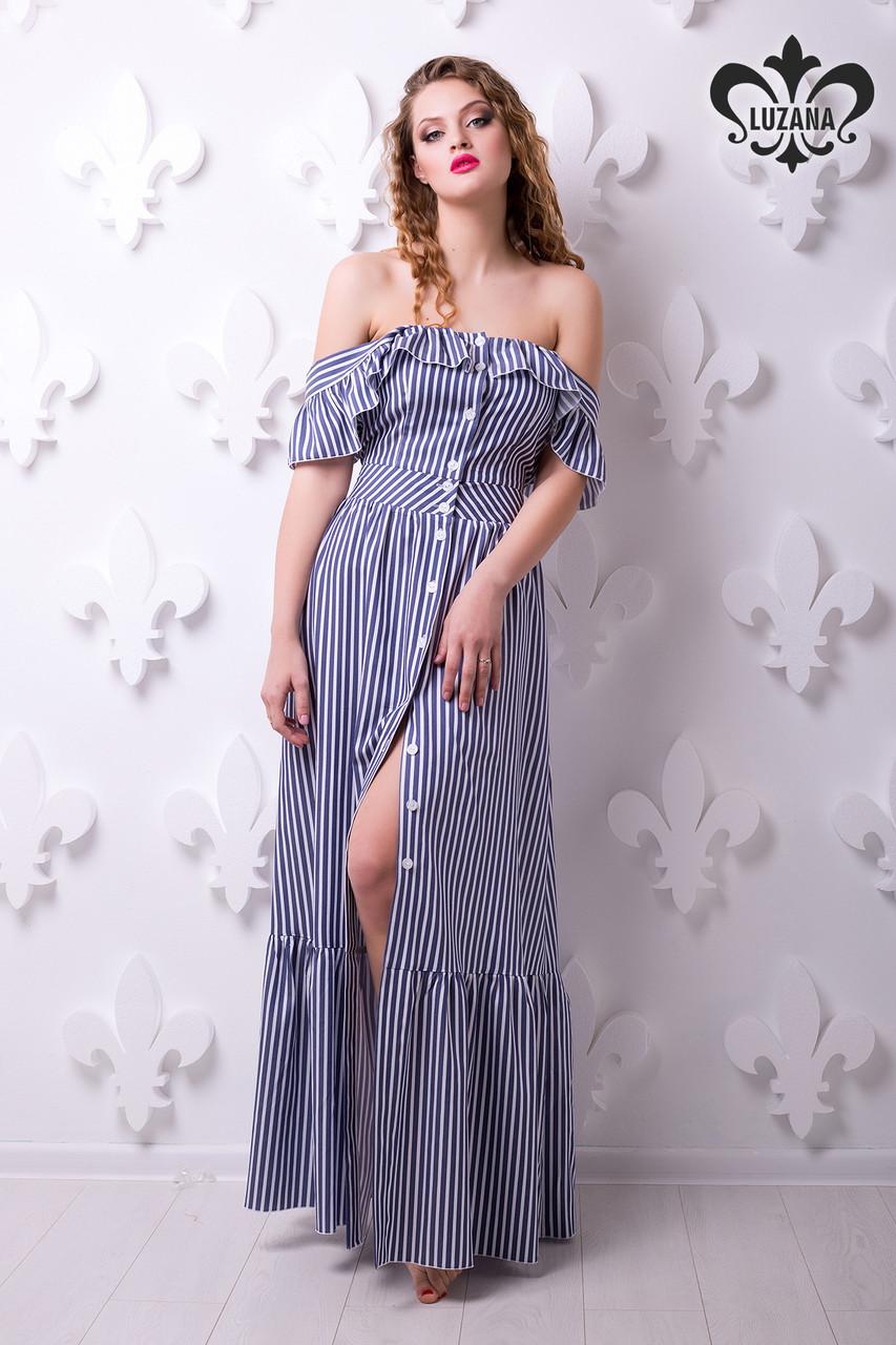 3932a453b13af11 Женское летнее платье в пол Линда Luzana 42-50 размеры - Интернет-магазин  одежды