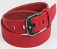 Мужской кожаный ремень под джинсы Skipper 3673 красный  ДхШ: 124х4,5 см., фото 3