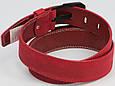 Мужской кожаный ремень под джинсы Skipper 3673 красный  ДхШ: 124х4,5 см., фото 4
