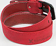 Мужской кожаный ремень под джинсы Skipper 3673 красный  ДхШ: 124х4,5 см., фото 5