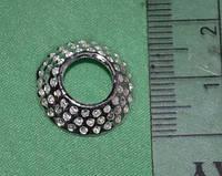 Шапочка для бусин 1730 серебро 18 мм поштучно
