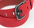 Мужской кожаный ремень под джинсы Skipper 3673 красный  ДхШ: 124х4,5 см., фото 6