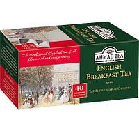 Чай  АХMAД Английский к завтраку черный байховый  40 пакетиков без ярлыка