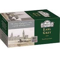 Чай  АХMAД Граф Грей  черный байховый с ароматом бергамота 40пакетиков без ярлыка