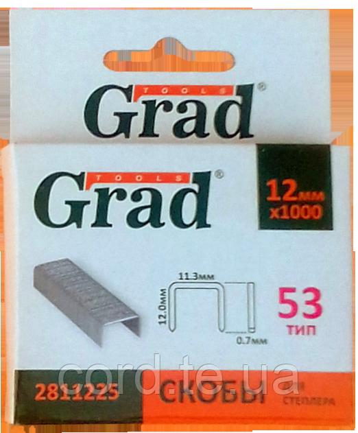 """Скоби 12 * 11,3мм (1000шт) """"Grad"""""""