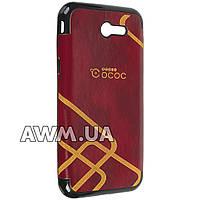 Чехол накладка OCOC на Samsung Galaxy J3 2017 красный