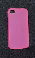 Чехол  iPhone 4G розовый( Айфон 4G/4S, чехол-накладка, бампер, защита для телефонов, кейс )